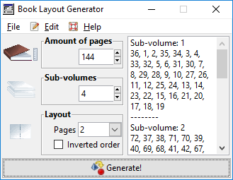 Book Layout Generator: example of usage by Luigi Di Fraia