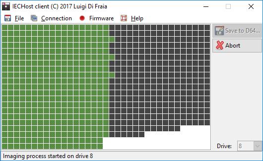 IECHost client: disk imaging in progress by Luigi Di Fraia