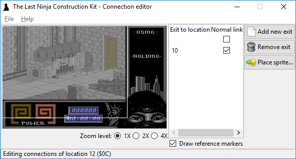 The Last Ninja Construction Kit: connection editor by Luigi Di Fraia