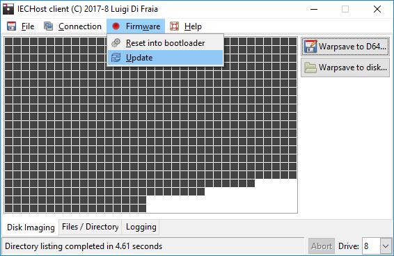 IECHost multi-threaded client: firmware update menu by Luigi Di Fraia