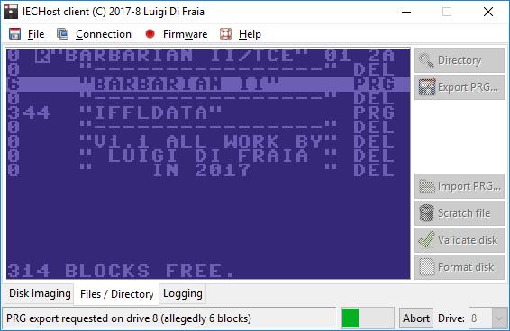 IECHost multi-threaded client: PRG exporting in progress by Luigi Di Fraia