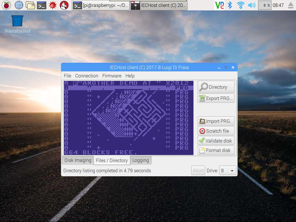 IECHost client: running on Raspberry Pi 3 Model B by Luigi Di Fraia