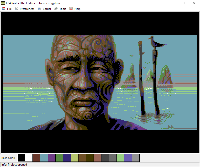 C64 Raster Effect Editor: Elsewhere by Mermaid
